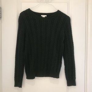 H&M green cable knit sweater size: S